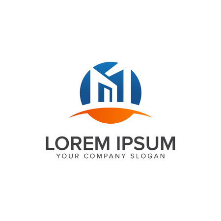 Conception architecturale et immobilier modèle de conception de logo Logo