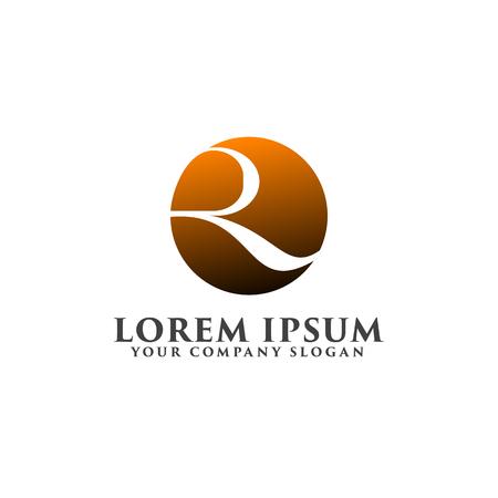 luxury letter r logo. round shape logo design concept template Illustration