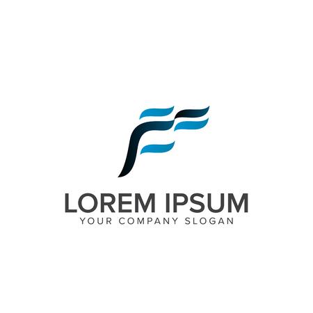letter f logo design concept template