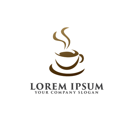 coffe logo design concept template