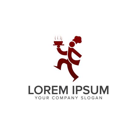Chef-Logo. Essen und Trinken Logo. Restaurant Logo Design Konzept Vorlage Standard-Bild - 82889188