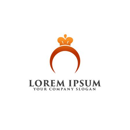リング ジュエリー ロゴ。ギフトのロゴ デザイン コンセプト テンプレート