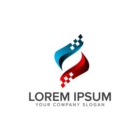 letter S-logo. Computer internet technologie logo ontwerpsjabloon concept Stock Illustratie