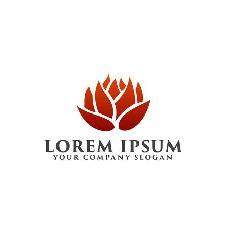 flower logo. Environmental and Green Landscaping logo design concept template