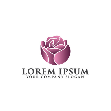 flower logo. Spa and Esthetics logo design concept template Zdjęcie Seryjne - 82889709