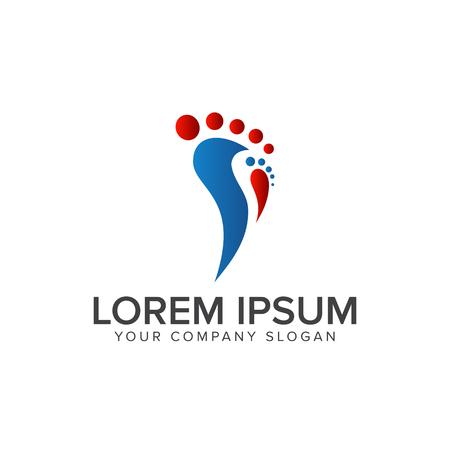 leg people logo design concept template