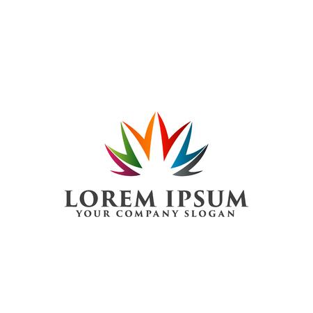 people care logo design concept