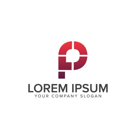 letter P logo. modern logo design concept template