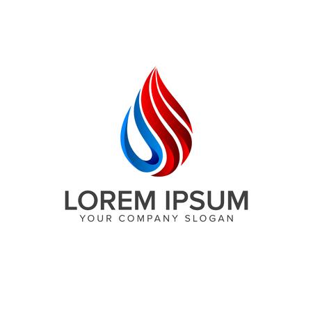 Gasöl-Logo. Tropfen natürliches Logo Konzept Design Vorlage Standard-Bild - 82889647