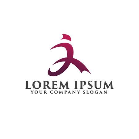 run people logo. sport logo design concept template