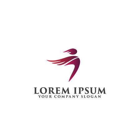 luxury people logo design concept template