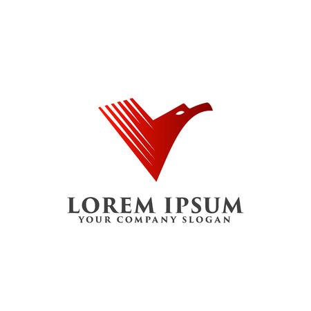red eagle logo design concept template Illustration