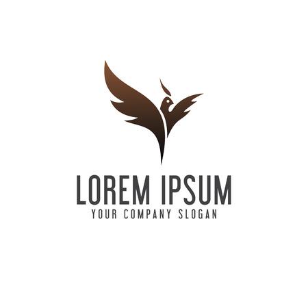 フェニックスのロゴ。鳥のロゴ デザイン コンセプト テンプレート