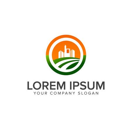 lanscaping building logo design concept template