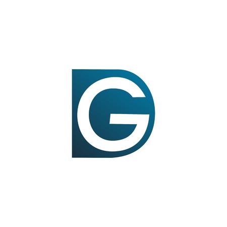 letter d and g design concept template Illusztráció