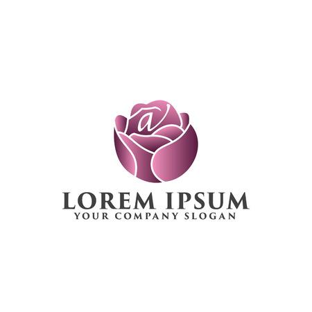 flower logo. Spa and Esthetics logo design concept template Zdjęcie Seryjne - 82889378