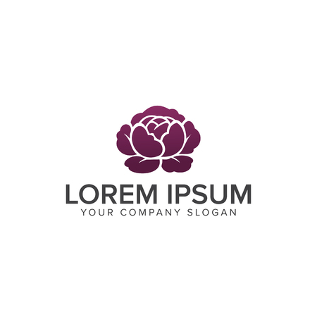 flower logo. Spa and Esthetics logo design concept template