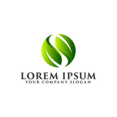 手紙のリーフのロゴ。自然のロゴのコンセプト デザイン