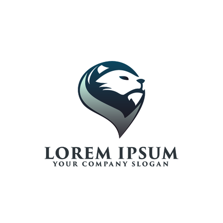 head lion logo. luxury logo design concept template