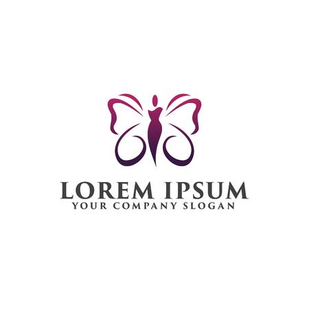 美容スパ人ロゴ。化粧品のロゴのデザイン コンセプトのテンプレート