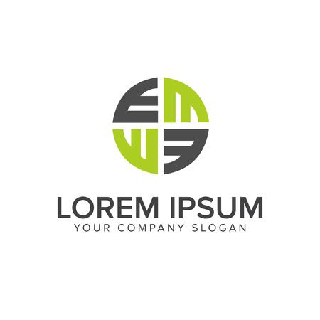 Plantilla de concepto de diseño de logotipo letra E decoración