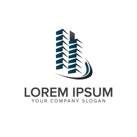 building logo design concept template. Architectural Construction logo design concept template Ilustração