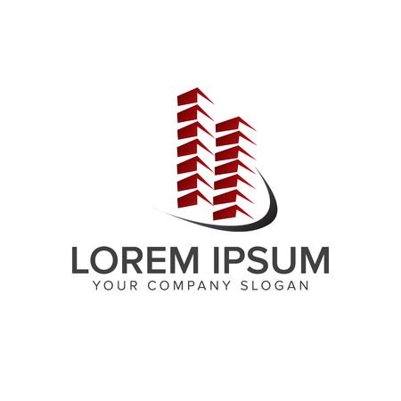 building logo design concept template. Architectural Construction logo design concept template Çizim