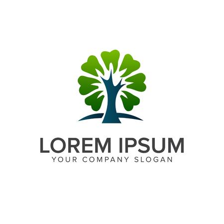 boom tandheelkundige logo ontwerpsjabloon concept