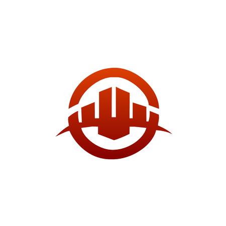 Architectural, Construction logo, Real Estate and Mortgage logo design concept template