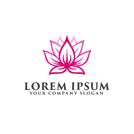 flower lotus logo design concept template