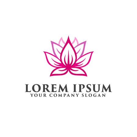modèle de concept de fleur lotus logo design