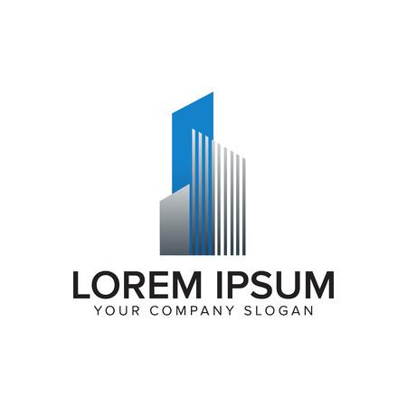 Architecturale, bouw logo, onroerend goed en hypotheek logo ontwerpsjabloon concept