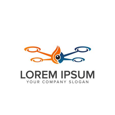 drone logo design concept template