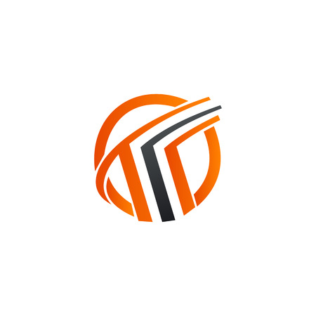 letter t logo design concept template Ilustração