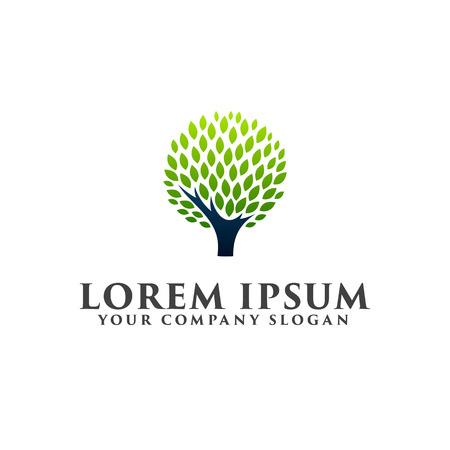 抽象的なツリーのロゴ アイコン デザイン コンセプト テンプレート