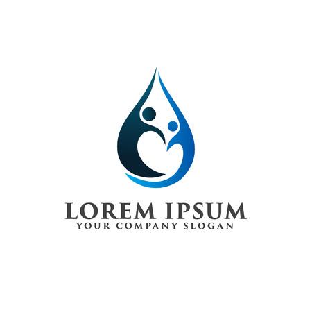 パートナーは、ロゴを人々 します。ビジネス ・ コンサルティングのロゴ デザイン コンセプト テンプレート  イラスト・ベクター素材