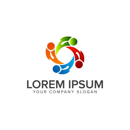 teamwork mensen Logo. zakelijke partners logo design concept template