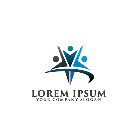 star people Logos. success people logo design concept template Illustration