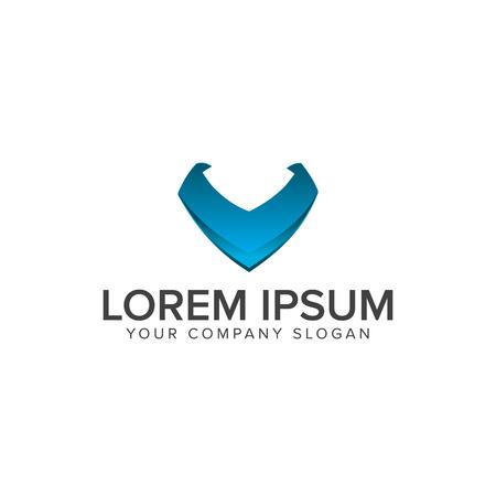 letter v logo. Internet Technology logo design concept template Ilustrace