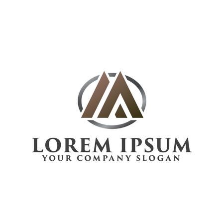 luxe letter A, M logo ontwerpsjabloon Stock Illustratie