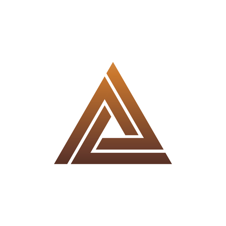 luxury letter A logo. triangle logo design concept template  イラスト・ベクター素材