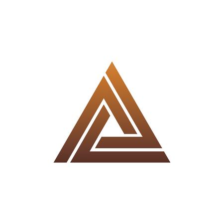 Luxusbuchstabe A-Logo. Dreieck-Logo-Design-Konzept-Vorlage Standard-Bild - 83305538