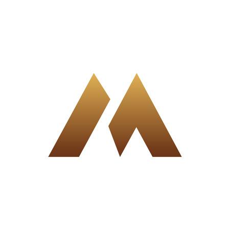 luxury letter M logo design concept template