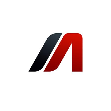 letter A, M logo. speed logo design concept template