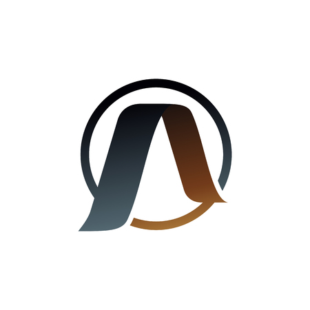 letter A logo. gold logo design concept template Ilustrace