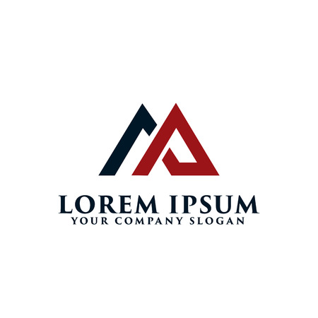 letter AM logo, real estate logo design concept template
