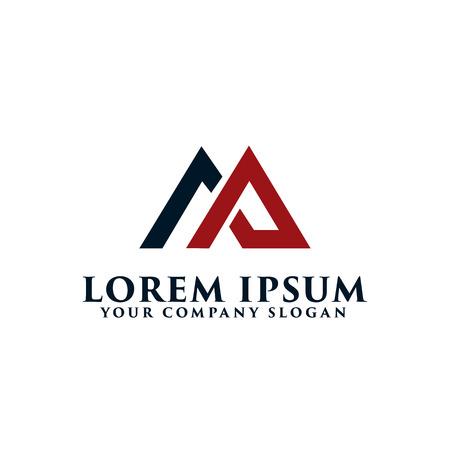 letter AM logo, onroerend goed logo ontwerpsjabloon concept