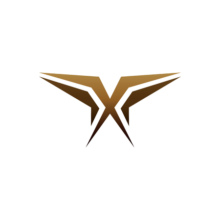 luxury letter x logo design concept template 向量圖像