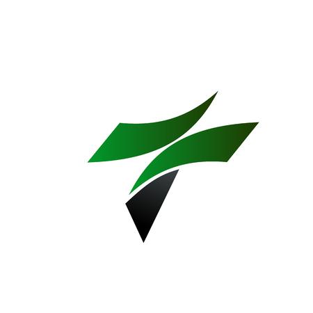 手紙 t ロゴ デザイン コンセプト テンプレート