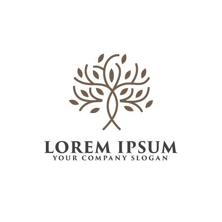 tree luxury logo design concept template